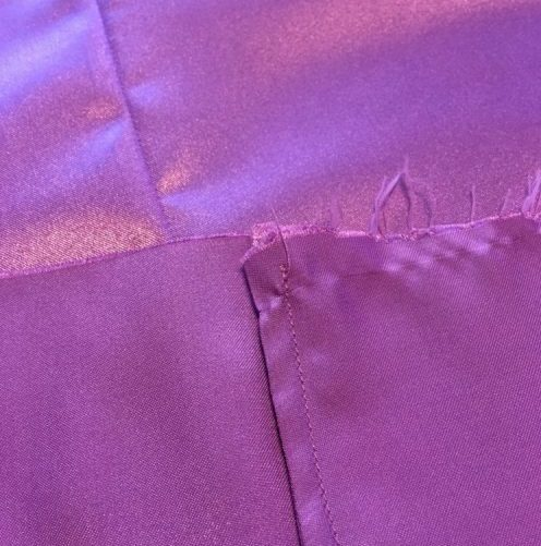 Close-up of French seams, inside and outside the garment